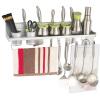 Европейский дуб ДУБ пространства алюминиевых кухонных шкафы кухонных принадлежности настенного крепления мусор Многоцелевой пряность стеллаж для хранения полка с двумя чашками, 60см забор C083