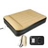 Jilong Jilong надувная кровать двойная утолщенная надувная кровать встроенная (электрический насос, дизайн подушки) влагостойкая прокладка наружная палатка матрас матрас матрас 203 * 157 * 47cmJL027229NG