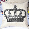 MyMei Sofa Home Decorative Linen Cotton Blended Cushion Cover Crown Throw Pillow Case hungary national flag europe country square throw pillow insert cushion cover home sofa decor gift