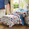 Mercury Home Textiles (MERCURY) Хлопок мультфильм Смазливая четырехкомпонентная детская кровать для детей Car World Plus Double 1,8 м Bed