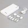 50000mAh внешних банка мощность LED двойной USB зарядное устройство для мобильных телефонов белый зарядное устройство для мобильных телефонов you liyang iphone