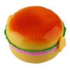 Дети Hamburger Bento Lunch Box Контейнер для хранения еды с ложкой Вилку термо ланч бокс bradex tk 0050 двойной bento lunch box 1 48l