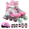 Отрасль бренда детские коньки регулируемые роликовые коньки вспышки костюм колесо F1-M1 розовый труба 28-31 метров роликовые коньки tempish mondial