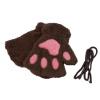 Милые женщины Cat Paw лапка Варежки перчатки Плюшевые костюм Подарок зимы Половина Finger светильник декоративный 3dlightfx paw patrol rocky mini 3d