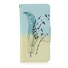 Перья и птицы Дизайн Кожа PU откидная крышка карточки бумажника держатель чехол для BQ Aquaris M5 семь цветов цветы дизайн кожа pu откидная крышка бумажника карты держатель чехол для bq aquaris m5