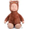 Бибер (Бибер) Мэн странно мягкая игрушка медведь спит кукла моделирование кукла куклы куклы задобрить кофе кофе