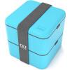 Супермаркет] [Jingdong Monbento оригинального двойной квадрат правил микроволновку ланч Японских голубые коробки 120,003,004 monbento оригинальная двойной правили микроволновки обеда коробок японская сирень коробка 120 012 117