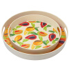COECO Bamboo Fiber Round Tray Творческий набор чая Набор для воды Чайная пластина Plate Fruit Plate SR76194 Fruit 2pcs Set dia 400mm 900w 120v 3m ntc 100k round tank silicone heater huge 3d printer build plate heated bed electric heating plate element