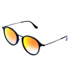 Ray-Ban Ray-Ban очки мужские и женские модели серии круглых черный кадр очки линзы оранжевый градиентных отражающими солнечные очки RB2447F 901 / 4W 52мм ray ban солнцезащитные очки rb 2447 901