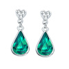 Yoursfs® Water Drop Long Earrings for Women Platinum Plated Imitation Emerald Stone Drop Earings Fashion Jewelry pendientes mujer