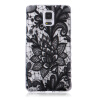 Black Rose Pattern Мягкий тонкий ТПУ Резиновая крышка силиконовый гель чехол для SAMSUNG GALAXY Note 4