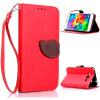 Красный Дизайн Кожа PU откидная крышка бумажника карты держатель чехол для Samsung Galaxy Alpha/G850 розовый дизайн кожа pu откидная крышка бумажника карты держатель чехол для samsung galaxy alpha g850