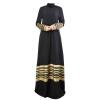 3 цвета Длинные мусульманские платья Элегантный Длинные Женщины Одежда
