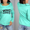 MyMei 2016 New Womens Sweater Knit Shirt Printing Letters Heaps Collar Hooded Sweater womens winter maternity clothing sweater coat 2015