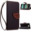 Черный Дизайн Кожа PU откидная крышка бумажника карты держатель чехол для HTC Desire 520 розовый дизайн кожа pu откидная крышка бумажника карты держатель чехол для htc one a9