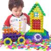 (MING TA) 800 кусков Большие хлопья снега толстые 12-цветные детские развивающие игрушки пластиковые строительные блоки, собранные детские пособия бочки троянская мудрость 100 красочные алфавит блоки детские развивающие игрушки деревянные развивающие игрушки барабаны подарки