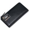 цена Sammons (Sammons) длинный отрезок мужской бумажник коровьей бумажник бумажник бумажник свободное печатание темперамент черная сумка 350252-01 онлайн в 2017 году