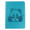 Sky Blue Panda Стиль Тиснение Классический откидная крышка с подставкой Функция и слот кредитной карты для iPad 2/3/4 2 в 1 емкостный сенсорный экран стилус и шариковая ручка для ipad 2 3 iphone 4 и 4s