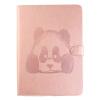 Розовый Panda Стиль Тиснение Классический откидная крышка с подставкой Функция и слот кредитной карты для iPad 2/3/4 2 в 1 емкостный сенсорный экран стилус и шариковая ручка для ipad 2 3 iphone 4 и 4s