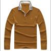 Повседневная рубашка поло Зимняя с длинным рукавом Мужские рубашки 100 Хлопчатобумажные поло для мужчин