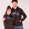 Intercrew Корея Корейский капюшоном свитер женский Сыпучие любителей свитер вышитые бейсбол равномерные весна ITR1TH31G 2017 темно-серый 90 смеси и сыпучие материалы