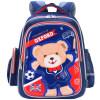 Оксфорд Медведь простой и легкий школьный случайные рюкзак сумка детские школьные сумки J046A- темно-синий / красный конфусиус школьный портфель 1 6 grade светоотражающие легкий мульти карман k503 легко чистить синие детские школьные сумки