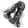 Антарктида (Nanjiren) Шелковый шарф женщин длинный длинный шелковый шарф шифон спиннинг Woody Woody Grey Gradient шарф хомут noryalli 37201 grey beige