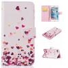 Розовый Сердце Дизайн Кожа PU откидная крышка бумажника карты держатель чехол для IPHONE 7 светло розовый windbell кожа pu откидная крышка бумажника карты держатель чехол для iphone 7
