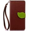 Коричневый Дизайн Кожа PU откидная крышка бумажника карты держатель чехол для Nokia Lumia 730 черный дизайн кожа pu откидная крышка бумажника карты держатель чехол для nokia lumia 730