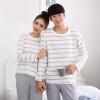 Арктическая кашемирская пижама мужская осенняя хлопчатобумажная круглая пара пижамы зимний хлопок домашний костюм для одежды 13470 серый L