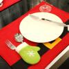 цена на  MyMei New Hot Christmas Placemats Fabric Non Woven Costume Santa Mat Mat Bar Accessories Kitchen Utensils Runner Mats Cutlery Hold