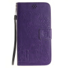Фиолетовый Любители и одуванчика Стиль Тиснение Классический откидная крышка с подставкой Функция и слот кредитной карты для Asus Zenfone 2 ZE551ML