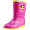 PaulFrank рот обезьяны детские ботинки дождя мужские и женские ботинки младенца ботинки способа PF1003 подняли красный 34 ярдов