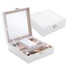 [Супермаркет] Jingdong ее красота королев простой PU ювелирных украшений коробки зеркало кассетные творческие подарки отправить любовь День Святого Валентина подарок белого SH002