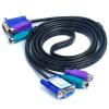 Sanbao (Sanbao) SKV-А105 KVM-три линии PS2 мышь и клавиатура + VGA кабель KVM-переключатель проволоки выделенной линии между мужчинами 1,5 м