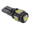 1x Xenon White LED БЕЗОШИБОЧНЫМ 5SMD Side Клин ЛАМПОЧКУ T10 194 168 W5W ijdm t10 led xenon white 3w xbd canbus error free w5w 168 194 2825 912 921 led bulbs for parking postion lights yellow red 12v