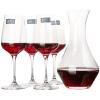 Школа права (roupa) Вино Красное вино графины вина набор с пакетом 5 комплектов (450мл красного вина графины * 4 + 1000мл * 1) книга вина