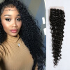 Бразильская девичьи волосы необработанная глубокая волна Средняя часть закрытие 100% человеческие волосы закрытие бесплатно освобождение бесплатно Tangle Бесплатная доставка гладкий а скачать бесплатно