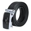 Giovanni Valentino (GIOVANNI VALENTINO) Men's belt business casual leather leather belt simple fashion automatic buckle 740365310 black