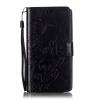 Черный цветочный дизайн Кожа PU откидная крышка бумажника карты держатель чехол для NOKIA N535 цветочный дизайн кожа pu откидная крышка бумажника карты держатель чехол для iphone 7g