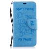 Светло-синий медведь Стиль Тиснение Классический откидная крышка с подставкой Функция и слот кредитной карты для Huawei P10 Lite