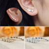 Женщины моды Rhinestone кристаллические серьги крюка уха стержня подарка ювелирных изделий NEW 2015 моды крюк уха gekkonidae ящерица горячей продажи серьги стержня популярные