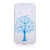 Синий дерево шаблон Мягкий чехол тонкий ТПУ резиновый силиконовый гель чехол для Microsoft Lumia 550
