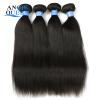 Пасха - большая скидка на Angie Virgin Hair Store Малайзия Virgin Hair 3Bundles Малайзийское прямое наращивание человеческих волос Free Ship скидка
