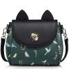 Когда Европа удовлетворяются (JUST STAR) плечо сумки женщины дикой новых мод сумка тенденция Сумка, г-ж Мэн интереса котенок пакет JS902L черный Джейд Грин