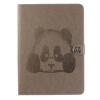Серый Panda Стиль Тиснение Классический откидная крышка с подставкой Функция и слот кредитной карты для iPad Air 2/6