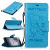 Светло-синий медведь Стиль Тиснение Классический откидная крышка с подставкой Функция и слот кредитной карты для HUAWEI P9