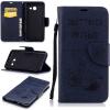 Классическая флип-обложка с тиснением Deep Blue Bear с функцией подставки и слотом для кредитных карт для Samsung Galaxy J5 2017/J530 ��ылесос с контейнером samsung vcdc20dv blue