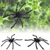MyMei 20Pcs Halloween Plastic Black Spider Funny Joking Toys Decoration Realistic Prop halloween plastic skeleton frame hanging decoration silver black 4 pcs