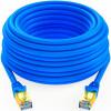 Shanze (SAMZHE) CAT-715L Инженерный класс 7 CAT7 Медный двухконтурный высокоскоростной сетевой перемычек 7 Тип Готовый кабель Сетевой кабель Blue 15m supra cat 7 15m